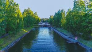 Vääksy Canal in summer